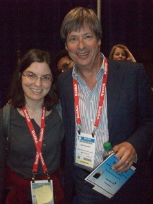 Anica Lewis with author and humorist Dave Barry